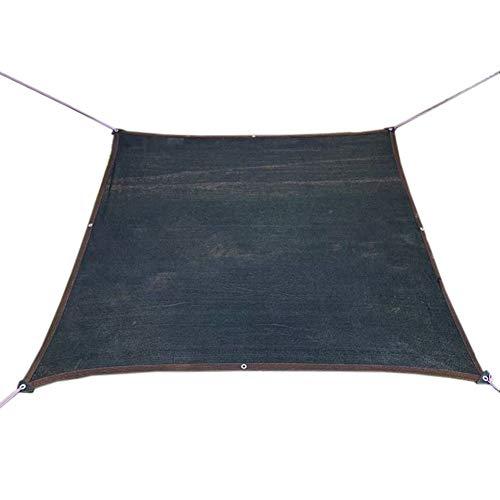 YXX-Filet d'ombrage 80% écran solaire Filet d'ombre pour serre et pergola, Noir Crème solaire toile d'ombrage avec Oeillets et 5m longue corde (Size : 10mx10m)