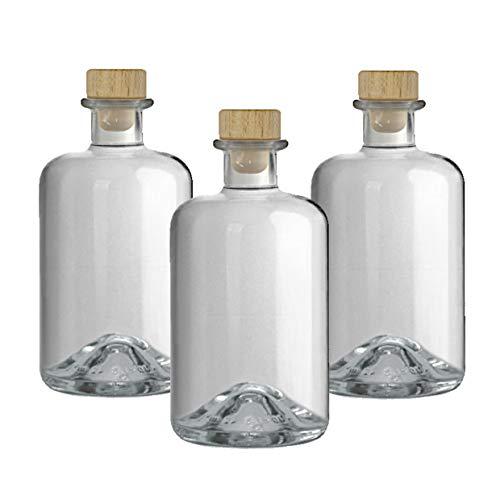 5 Apothekerflaschen 500 ml Glas Flaschen leer Essigflaschen Ölflaschen Schnapsflaschen Likörflaschen zum selbst befüllen VERSAND INNERHALB 24 STD!