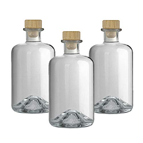 9 Apothekerflaschen leer 500 ml Glas Flaschen Essigflaschen Ölflaschen Schnapsflaschen Likörflaschen zum selbst befüllen VERSAND INNERHALB 24 STD!