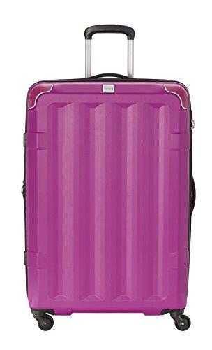 Travelite Corner 4 Rollen Hartschalenkoffer, 75 cm, 110 L, Beere