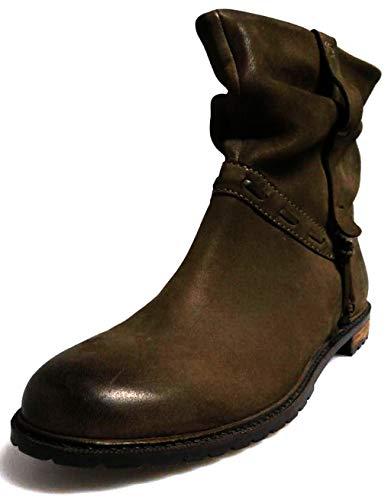 SPM Damen 7063 Lederstiefelette Stiefelette Lederschuhe Leder Boots Kurzstiefel Braun EU 39