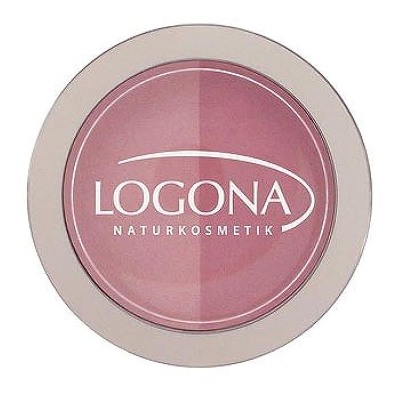 群がるスキー土地ロゴナ(LOGONA)チークカラー<デュオ> 01ローズ&ピンク 10g