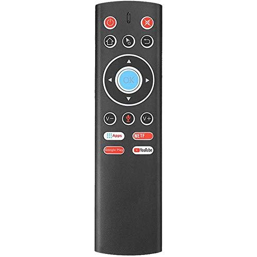 Yuyanshop Control remoto aire ratón 2.4 GHz control remoto inalámbrico control de búsqueda por voz ir aprendizaje aire remoto ratón para Android TV Box