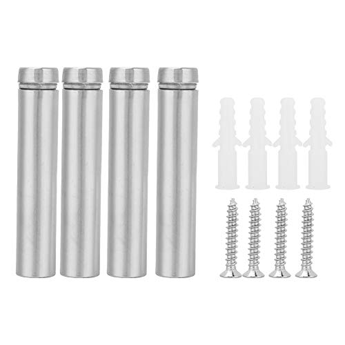4Pcs 1260/1280mm Advertising Nail Hollow Glass Standoff Holder,Tainless Steel Hollow Glass Standoff with Self-Tapping Screw(1260mm)