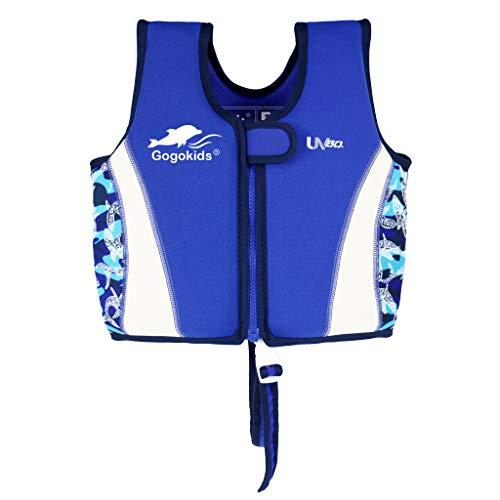 Kinder Schwimmweste Neopren Weste Schwimmjacke Jungen Mädchen Bademode Schwimmen Jacke, 4-6 Jahre
