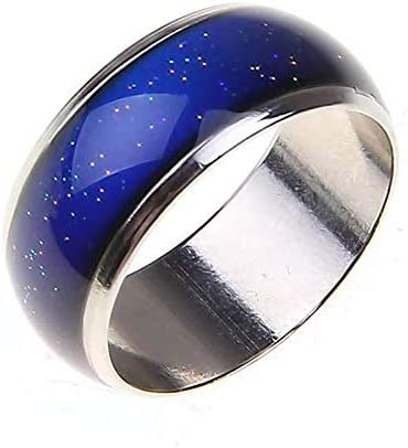 Temperature SensitiveColor Changing Ring 6mm Wide Lovers StainlessMood RingMood Sensitive Color Changing RingNew Creative FashionTemperature Ring