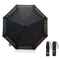 🌈[Erstaunlich wasserdicht]: Dieser ausgezeichnete Regenschirm besteht aus hochwertigem Hit-Stoff und ist stark wasserdicht. 🌈[Windabweisend]: Unsere Regenschirme bestehen aus hochwertigen Glasfaser- und Stahlkomponenten. Mit 8 Rippen ist der Baldachi...