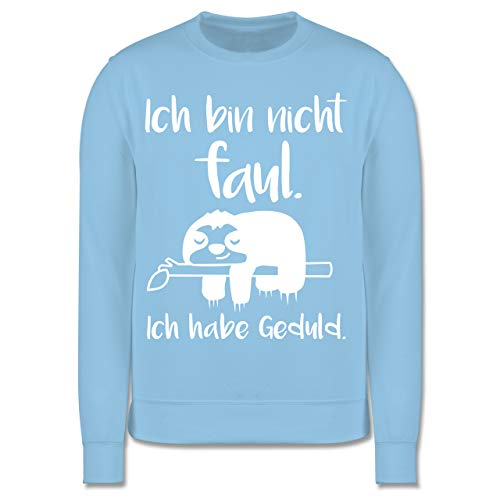 Shirtracer Sprüche Kind - Ich Bin Nicht faul weiß - 140 (9/11 Jahre) - Hellblau - Geschenk - JH030K - Kinder Pullover