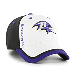 '47 Baltimore Ravens Crash Line Contender White Two Tone Hat Cap Adult Men's Stretch Fit OSFA