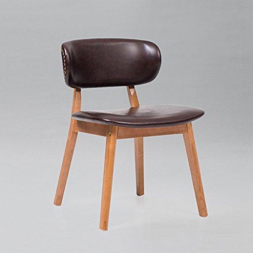 PLL groot formaat Scandinavische minimalistische lederen rugleuning barkruk massief hout stoel koffie winkel bureaustoel comfortabel
