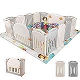 AOOU Baby 14 Panel Laufstall Spielplatz Faltbare tragbare HDPE Playards Zaun Activity Center Sicherheit Indoor Outdoor (orange)