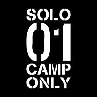 SOLO CAMP ONLY カッティング ステッカー ホワイト ソロキャンプ