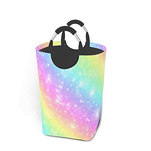 Galaxy Fantasy - Cestas de almacenamiento de mármol rosa pastel, cesto flexible para ropa sucia, bolsa organizadora ecológica, carrito clasificador extraíble, lugar seguro para dormitorio, apartamento