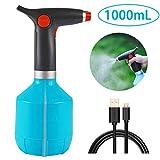 BestCool Flacon Pulvérisateur électrique, Arrosoir électrique à Eau électrique de Chargement USB avec Buse Réglable 1L (Bleu)