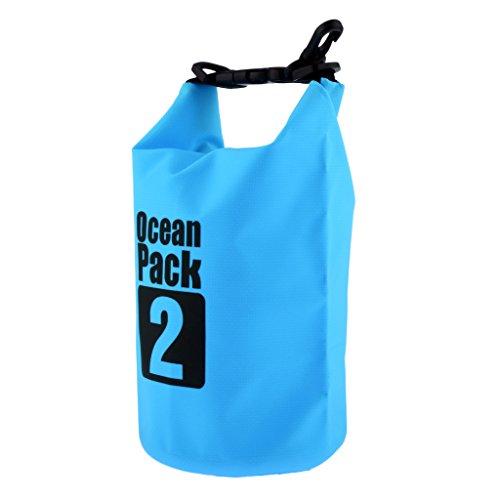Almencla 2L Bolsa Seca Impermeable Saco Canoa Flotante Canotaje Kayak Camping Escalada - Azul