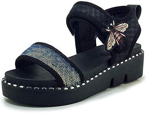 HommesGLTX Hot Glitters Plateforme Sandales Femmes Plus Plus La Taille 30-44 Fille D'été Décontracté Plage Wedges Chaussures Femme  coloris étonnants