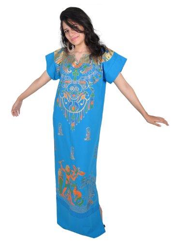 CLEOPATRA Faraón Disfraz, carnaval fastnacht Vestidos de la Orient ägypterin, color: turquesa...