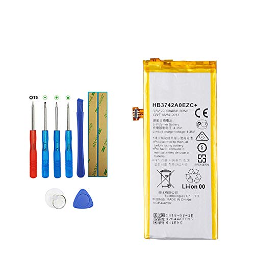 Upplus HB3742A0EZC - Batería de Repuesto Compatible con Huawei P8 Lite ALE-CL10 ALE-CL00 ALE-TL00 TAG-AL00 con Kit de Herramientas