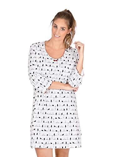 Trigema Damen 537083118 Nachthemd, Weiß (Weiß 001), Medium