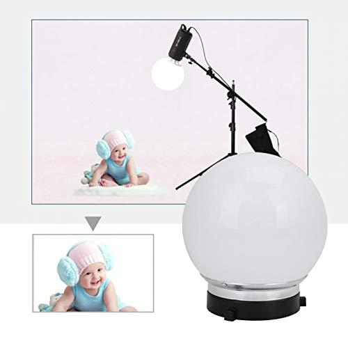 Difusor de fotografía Softbox Ball Softbox Accesorios de estudio de fotografía duraderos de 15 cm, para fotografía de bebés y niños(blanco)