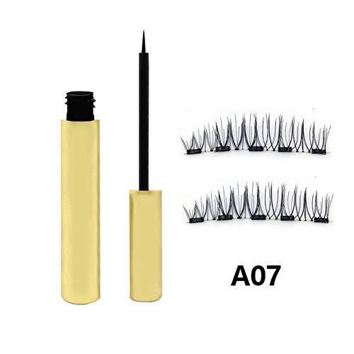 Kitabetty Delineador de Ojos líquido magnético Combinado con 1 par de pestañas magnéticas de 5, el Juego de pestañas Beauty Waterproof Natural