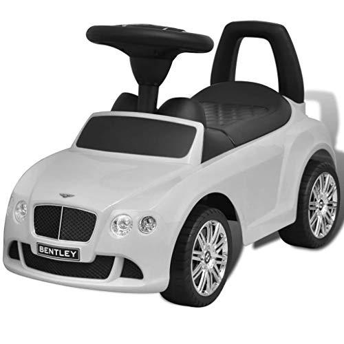 vidaXL Coche Correpasillos para Niños Vehículo Blanco Auto Infantil de Juguete