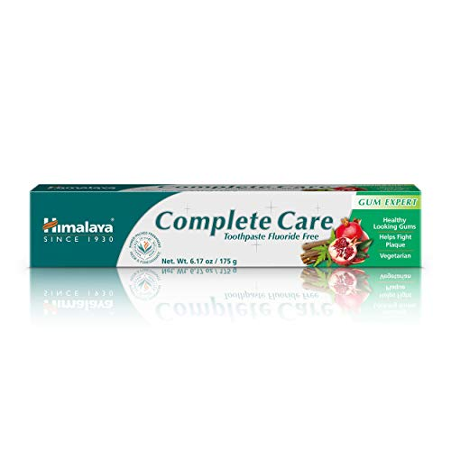 Himalaya Complete Care Toothpaste, Fluoride Free to Reduce Plaque & Brighten Teeth, 6.17 oz