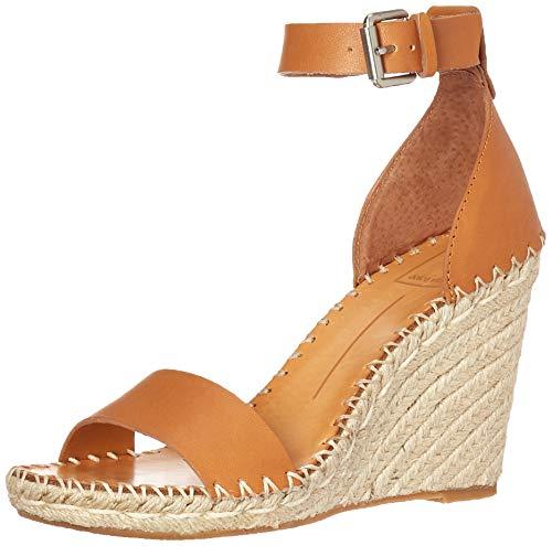 Dolce Vita Women's Noor Wedge Sandal, tan Leather, 8 M US