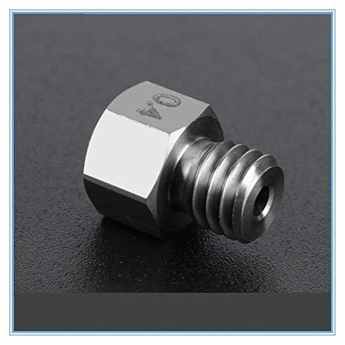 L-Yune,bolt 1pc Titanium Alloy MK8 Ruby Nozzle 0.4mm 1.75mm Nozzles High Temperature For PETG ABS PET PEEK NYLON 3D Printer Parts (Color : Ruby, Size : 0.4mm Nozzle)