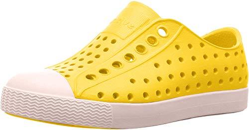 Native Shoes Jefferson Child, Espadrilles Mixte Enfant, Jaune (Crayon jellow/Shell White), 23 EU / 7 US C