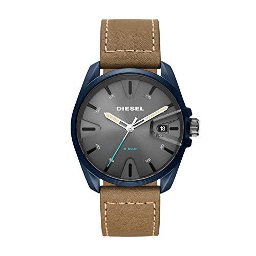 Diesel Herren Analog Quarz Uhr mit Leder Armband DZ1867