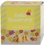 Ni Hao 'Gute Besserung' - Biscotti portafortuna, in bella scatola da 10 pezzi, confezionati singolarmente e diverse scritte - Made in Germany