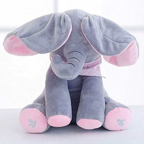 JTL Peek-A-Boo Elefante de Peek-A-Boo, Juego de Ocultar y búsqueda de Peluche de Peluche de Peluche de Peluche de Peluche de Peluche de Peluche Juguetes de bebé