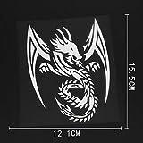 12.1CMX15.5CM Tribal Dragon Decal Art Mural Silhouette Vinyl Car Sticker 13C-0163 Silver