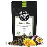 Edward Fields Tea  - Té verde orgánico a granel con Mango y Maracuya. Té bio recolectado a mano con cúrcuma, jengibre e ingredientes naturales. 100 gramos, China.