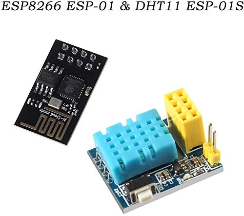 ICQUANZX Module de Bricolage ESP8266 WiFi NodeMCU Smart Home IOT Module de capteur de température ESP8266 ESP-01 ESP-01S DHT11