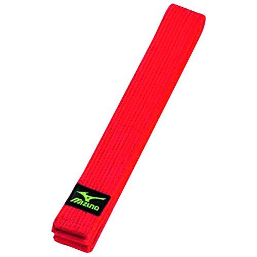 Mizuno - Cinturón de judo, 42 mm, 100% algodón, 245 cm, color rojo