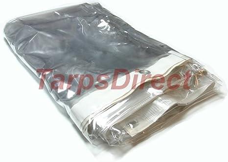 10 X 12 Clear Vinyl Tarps 20 Mil Heavy Duty Clear Tarp Amazon Com