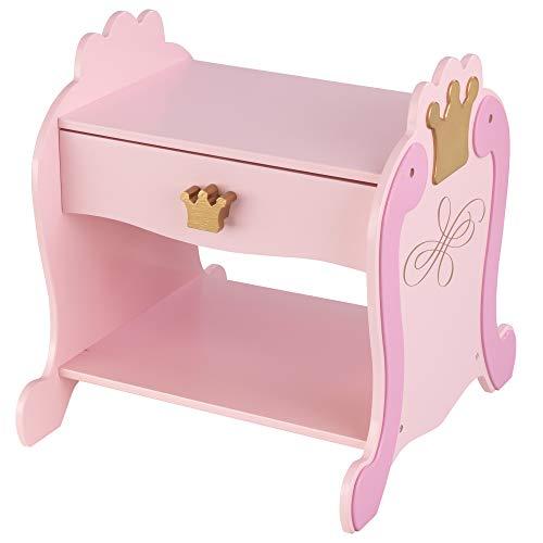 KidKraft 76124 Table de chevet Princesse, chambre enfant, meuble de rangement