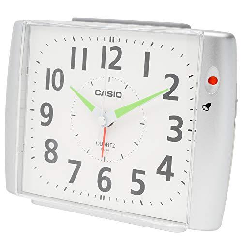CASIO(カシオ) 目覚まし時計 シルバー アナログ ベル音 アラーム TQ-382-8JF 12.3×16.0×8.0cm