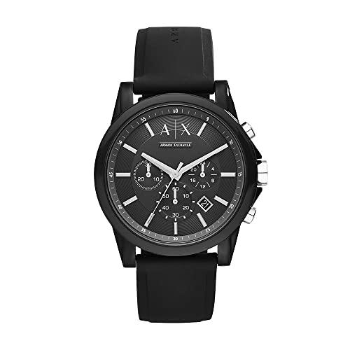 Armani Exchange Reloj Cronógrafo para Hombre de Cuarzo con Correa en Silicona AX1326
