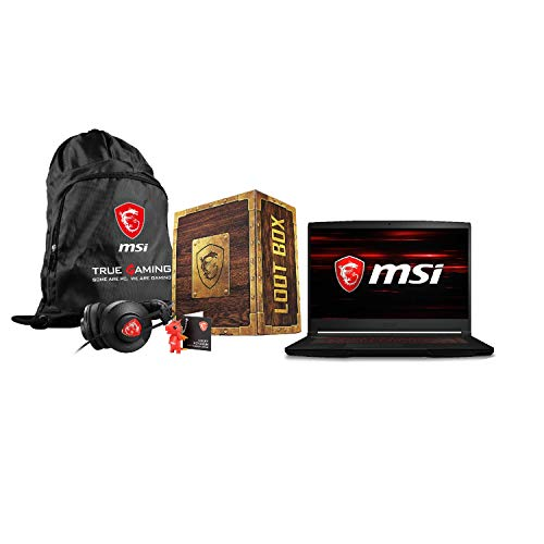 MSI GF63 Thin 9SCSR-1069UK Core i5-9300H 8GB 256GB SSD 15.6 Inch GeForce GTX 1650Ti Windows 10 Gaming Laptop - with Free Loot Box Pack