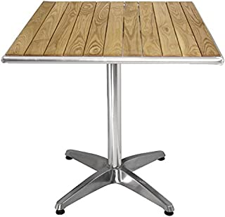 Boléro Table carrée en frêne 720x 600x 600mm Restaurant Bar Café Salle à manger
