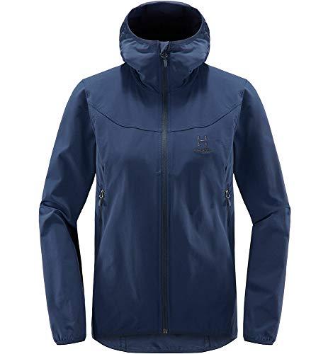 Haglöfs Softshelljacke Frauen Softshelljacke Natrix Hood Wasserabweisend, Windabweisend, Stretch Extra Small Tarn Blue XL XL Extra Large