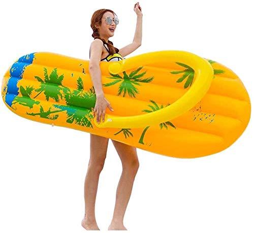 HONGSHENG Schwebebett, riesige aufblasbare Flip Flop Pool Float, Inflatables Schwimmbäder Raft Ride On Pool Lounger Wasser-Spielzeug für Spaß
