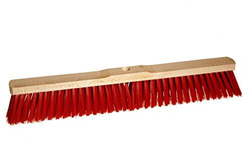BawiTec Straßenbesen Elaston Eralon rot Kehrbesen 40cm 50cm 60cm mit Stielloch (50cm)