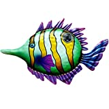 Crazyfly Metal colorido pescado arte colgante adorno de pared,...