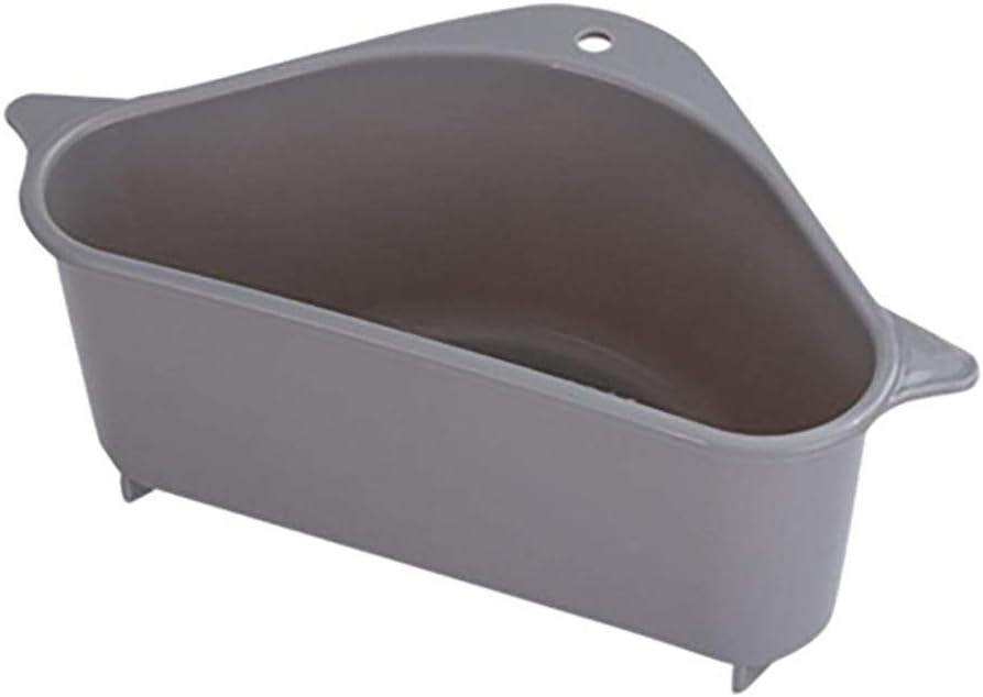 no poroso esponja cesta de desag/üe para fregadero de cocina triangular multifunci/ón jab/ón lavado de frutas Beige 26 x 14,2 x 10 cm. soporte multifunci/ón en caja Filtro de cesta para fregadero
