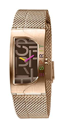 Esprit Damen Analog Quarz Uhr mit Edelstahl Armband ES1L046M0065