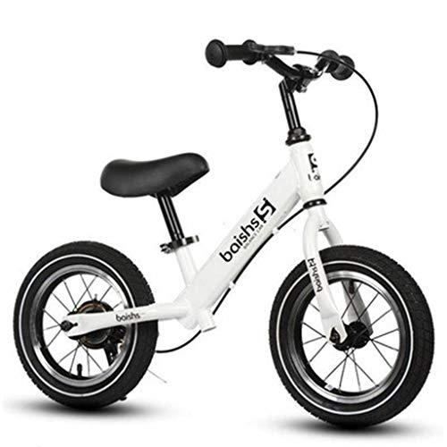 Kinder Balance Auto, Aluminium Rutsche Auto Baby Ohne Pedal Fahrrad 1-3-6 Jahre Alt Yo-yo Kleinkind Roller (spezifikation: 12 Zoll) (Color : White)